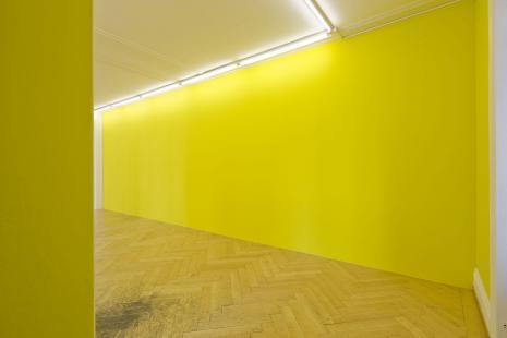 Thomas Hirschhorn_the subjecter_Olivier Mosset_wallpaper_Galerie_Susanna Kulli_Zurich