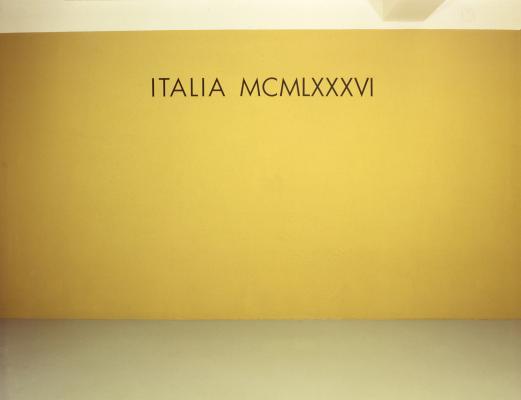 Gerhard Merz_Galerie Susanna Kulli_ITALIA MCMLXXXVI